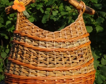 "Wicker shopping basket ""Erlendur"""