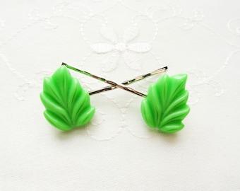 Leaf Hair Pins / Bobby Pins / Cute / Kawaii / Hair / Pins