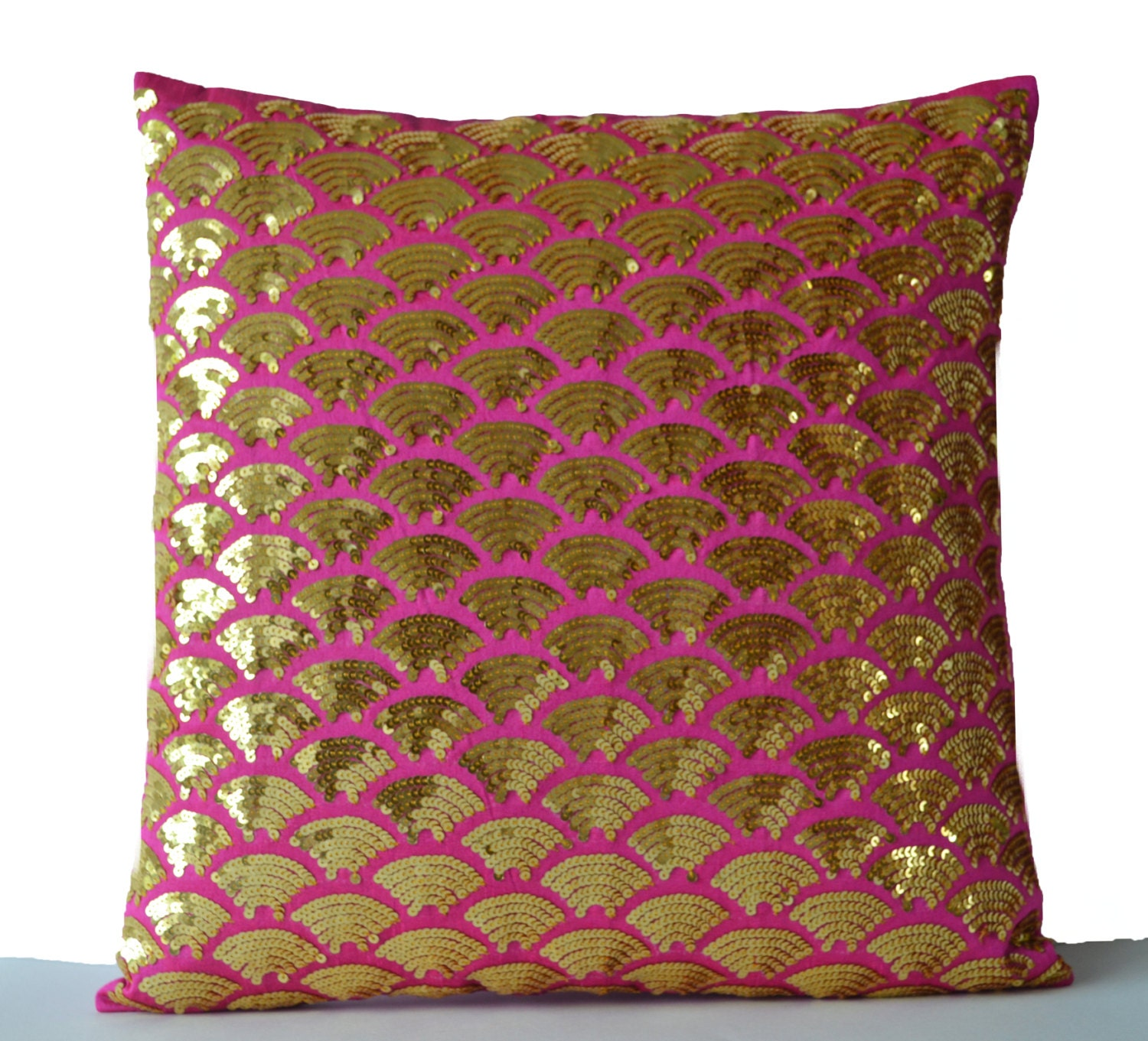 Gold Accent Pillows Pink Gold Pillow Gold Sequin Pillow