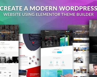 Create a modern WordPress Website with Elementor + SEO