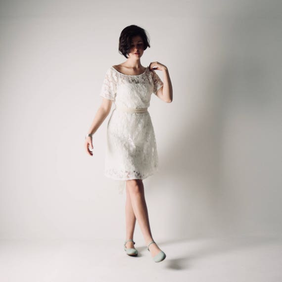 Short wedding dress simple wedding dress alternative wedding junglespirit Choice Image