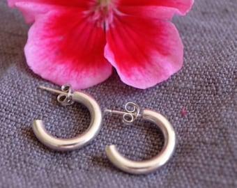 Solid Silver Hoop Earrings