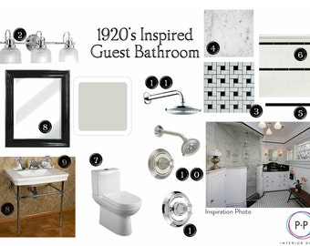 Interior Design Service: Custom Bathroom Design, interior design, e-design, affordable design, professional help