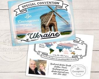 50-100 Postcards - Special Convention 2018 - Ukraine - JW special convention gifts -  Ukraine Convention Pins & Pens