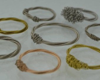 Guitar string rings made to measure