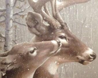 2 Deer Cross Stitch PDF Pattern, Needle Point Pattern