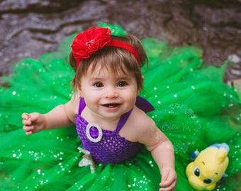 Baby Halloween Costume / Toddler Halloween Costume / Little Mermaid Costume / Ariel Dress / Disney Princess Costume Tutu Dress/ Mermaid Tutu  sc 1 st  Etsy & Little mermaid costume | Etsy