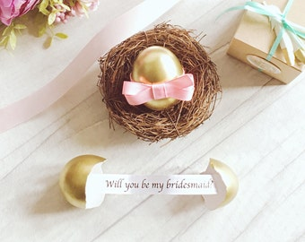 Personalised Will You Be My Bridesmaid -Proposal Gift Egg - Will You Be My Matron ∙ Maid of Honor ∙ Flower Girl