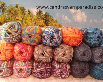 Sport weight sock yarn 150 g 5.2 oz/ 6 ply