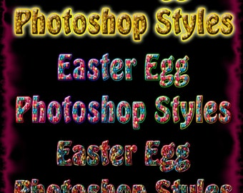 Easter egg Photoshop styles. 3 in total