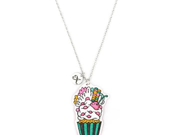 Necklace Cupcake Pink
