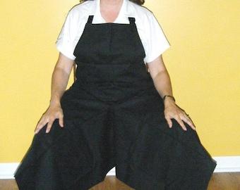 Pottery Apron Split Leg Panel Black Basic