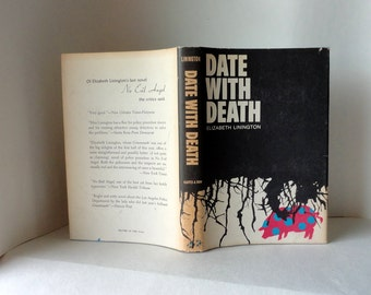 Vintage Book DATE WITH DEATH by Elizabeth Linington Harper & Row New York 1966 Mystery Fiction Novel Dell Shannon Hardcover Dust Jacket 1st