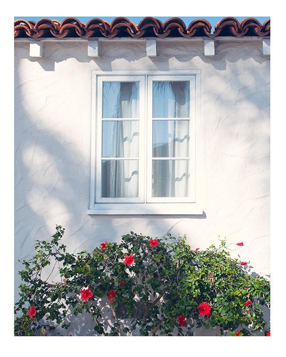 Cottage Window Photo,  California Print, Beach Cottage Art, Coastal Scene, Etsy Wall Art, Coastal Home Decor