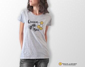 Queen bee T-shirt-bee T-shirt-fashion t-shirt-bride t-shirt-bee tees-women t-shirt-fashion-cool tees-quote tank top-NATURA PICTA-NPTS067