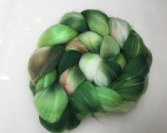 Hand Dyed Superwash Polwarth wool tops