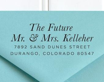 Return Address Stamp, Wedding Stamp, RSVP Stamp, Future Mr and Mrs Stamp, Address Stamp, Self Inking Return Address Stamp - No. 54
