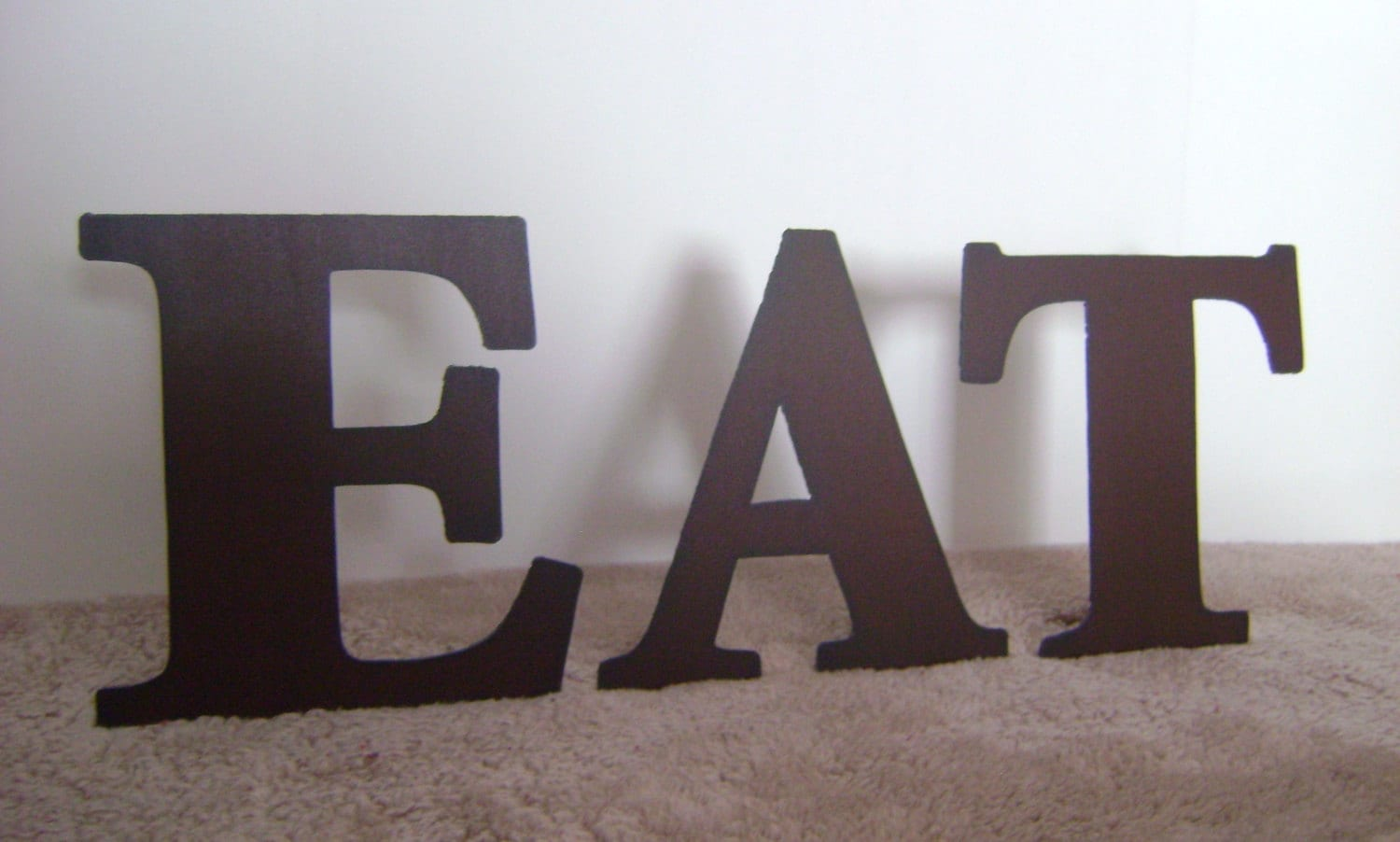 10 Inch Metal Letters Eat Word Art Wall Art Metal Letters 10 Inch Or 14 Inch