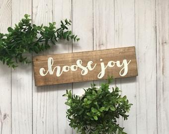 Choose Joy Sign, Choose Joy Wood Sign, Choose Joy Wooden Sign, Wooden Joy Sign, Choose Joy Art, Choose Joy Wall Art, Choose Happy, Joy Sign