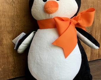Personalized Baby Gift | Birth Announcement | Plush Soft Toy | Keepsake | Stuffed Animal | PENGUIN