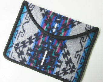 """12"""" MacBook Laptop Cover Sleeve Case Native American Print Tribal Inspired Wool from Pendleton Oregon"""