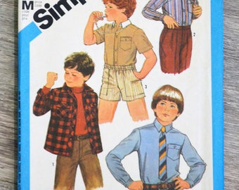 Simplicity 6565 - 6 years old boy shirts sewing pattern clutch