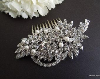 bridal hair comb Pearl Hair Comb Rhinestone Hair Comb Wedding Hair Comb wedding hair accessories crystal hair comb bridal hair clip BARBARA