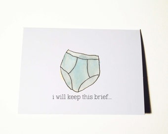 Keep this Brief and I Miss You Card