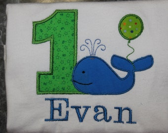 Whale Birthday shirt