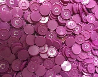 Medicine  flip off vial caps for crafts: magenta 22mm cap- 500 pieces-overstock sale