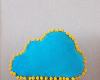 Cloud pillow, blue cloud pillow, children's pillow, plush cloud, nursery room pillow, nursery room décor