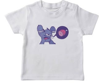 Hungry Scary Monster Boy's White Halloween T-shirt