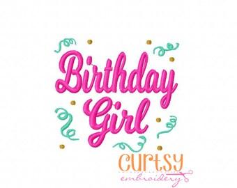 Birthday Embroidery Design, First Birthday Embroidery Design,  Birthday Embroidery Design, Birthday Girl