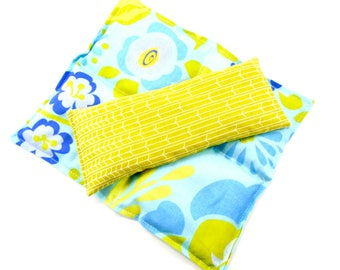 Chronic Back Pain Relief:Lumbar Set- Mid-Size Back Relief Pack-Eye Pillow-Microwave Heat Pack-Therapy Packs-Yoga-Gift Idea