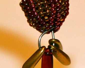 Bead Cap: Bead Weaving Instructions by Linda Lehman