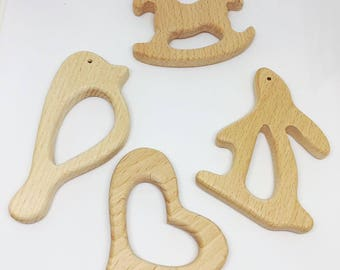 wooden teething ring (wood teether)