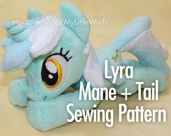 Lyra Mane + Tail Sewing Pattern