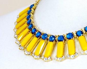 Gemstone necklace, Collar necklace, Bib necklace, Statement necklace - Gavan