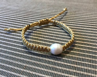 Beaded Bracelet with Fresh Water Pearl