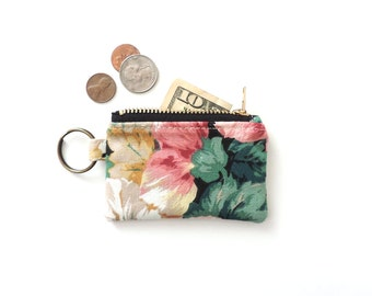 Floral Keychain Coin Purse Pouch