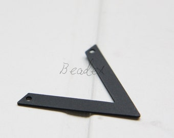 2 Pieces / Matte Black Plated / Brass Base / Charm / Arrow / Pendant (C1996//G527)