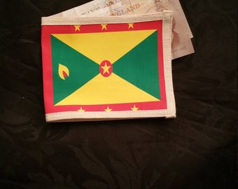 Cotton Printed flag wallet