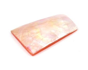 Huge Mother Of Pearl Cabochon, 1 Colorful MOP Cabochon, Acrylic Backside, Randomly Sent (48x33x21x7mm) X013