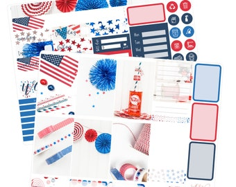 Big Happy Planner Stickers / Fourth of July Stickers / Planner Stickers / Summer Planner Stickers / Weekly Sticker Kit / Photo Kit / PHL5