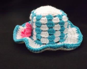 Toddler's Beach Hat, Child's Beach Hat, Baby's Beach Hat, Crocheted Summer Beach Hat, Crocheted Summer Hat, Child's Summer Hat, Photo Prop