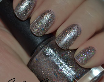 Quarter Chaos - Multicolored and Holographic Glitter Nail Polish