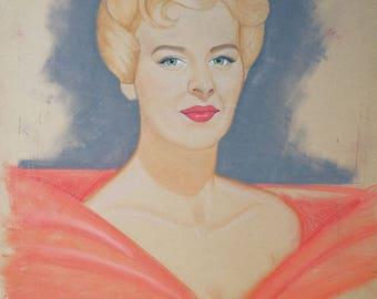 Vintage Pastel Studio Portrait