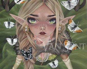 Fauna giclee pop surrealism print by Susan Van Sant