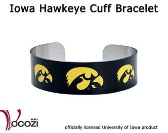 Iowa Hawkeye Tigerhawk Aluminum Cuff Bracelet