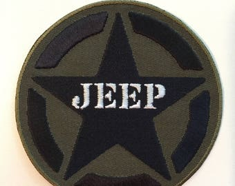 Jeep Star Embroidered Patch - Iron or Sew On